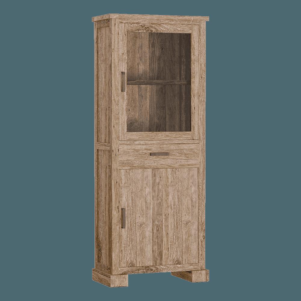Kast - Vitrinekasten - Lorenzo vitrine 2 drs. 1 drw.