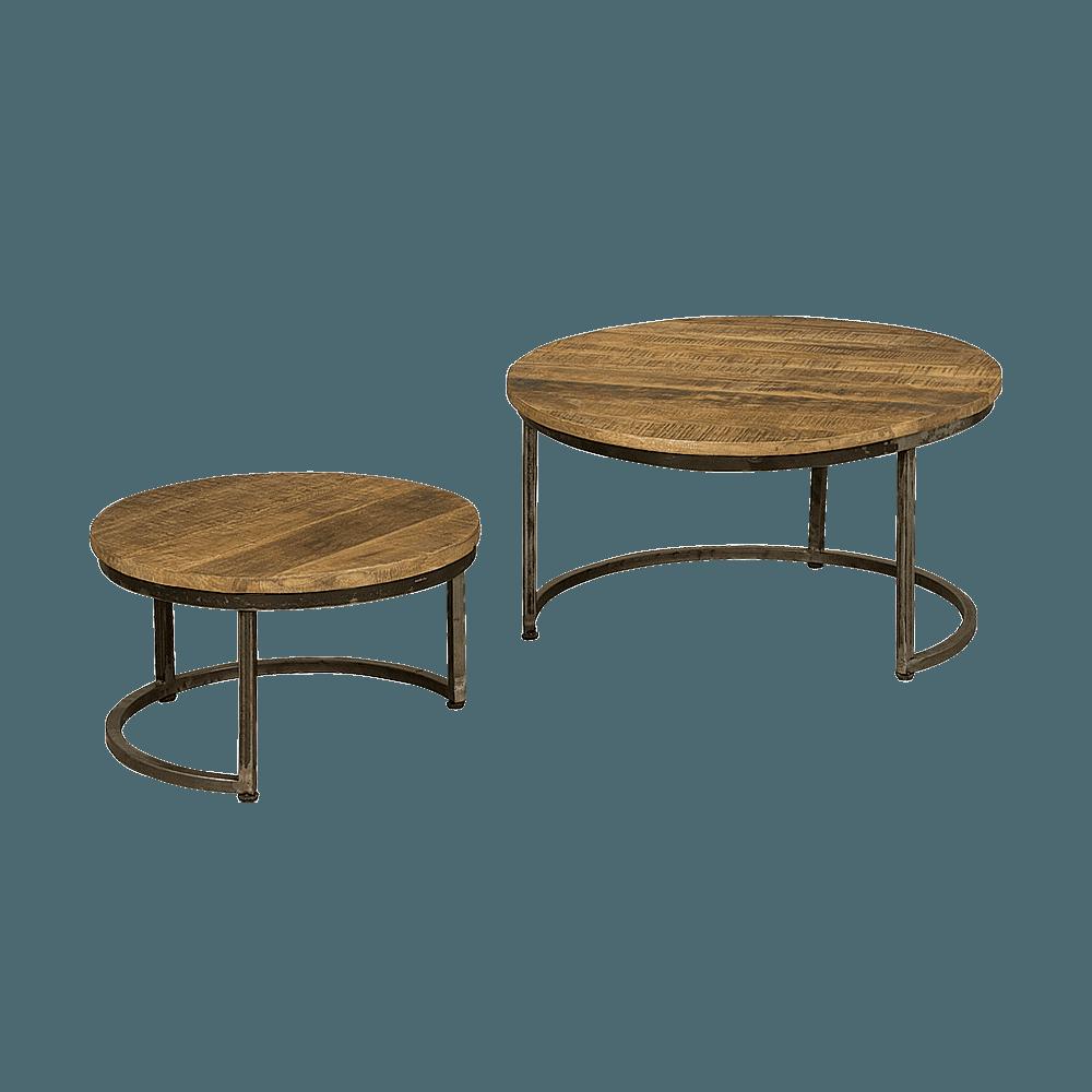 Tafel - Salontafels - Set of 2 round coffeetables