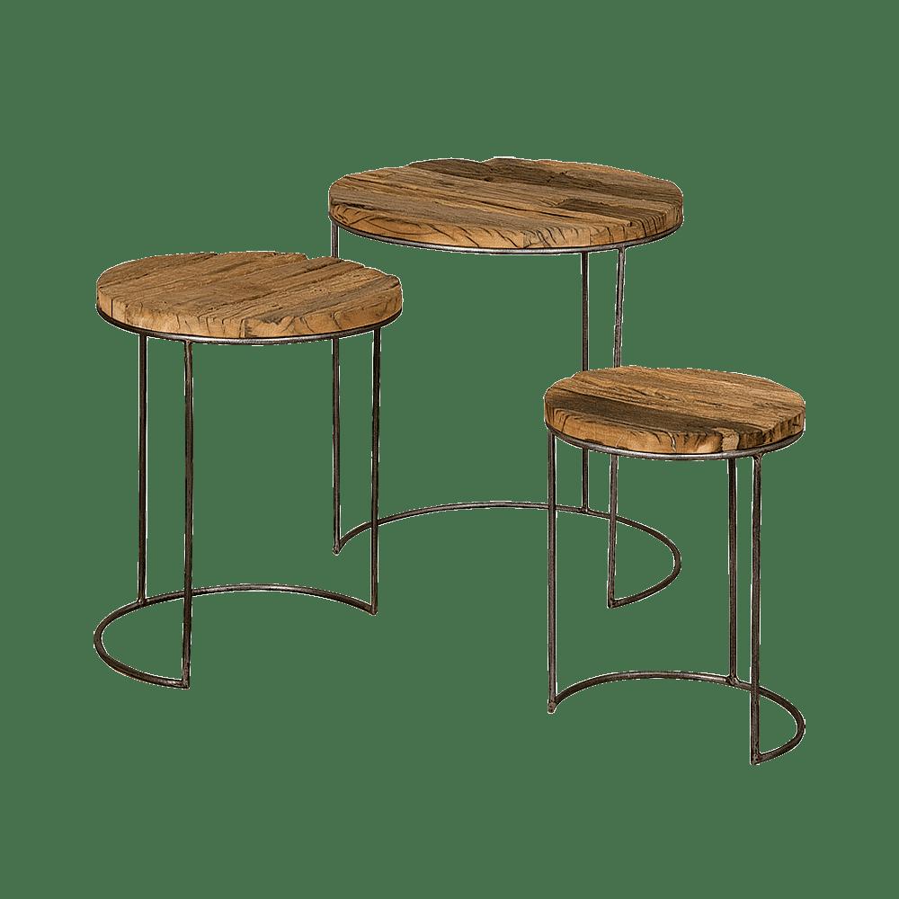 Tafel - Bijzettafels - Coffeetable set of 3
