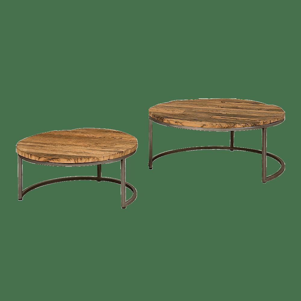Tafel - Salontafels - Round table set of 2