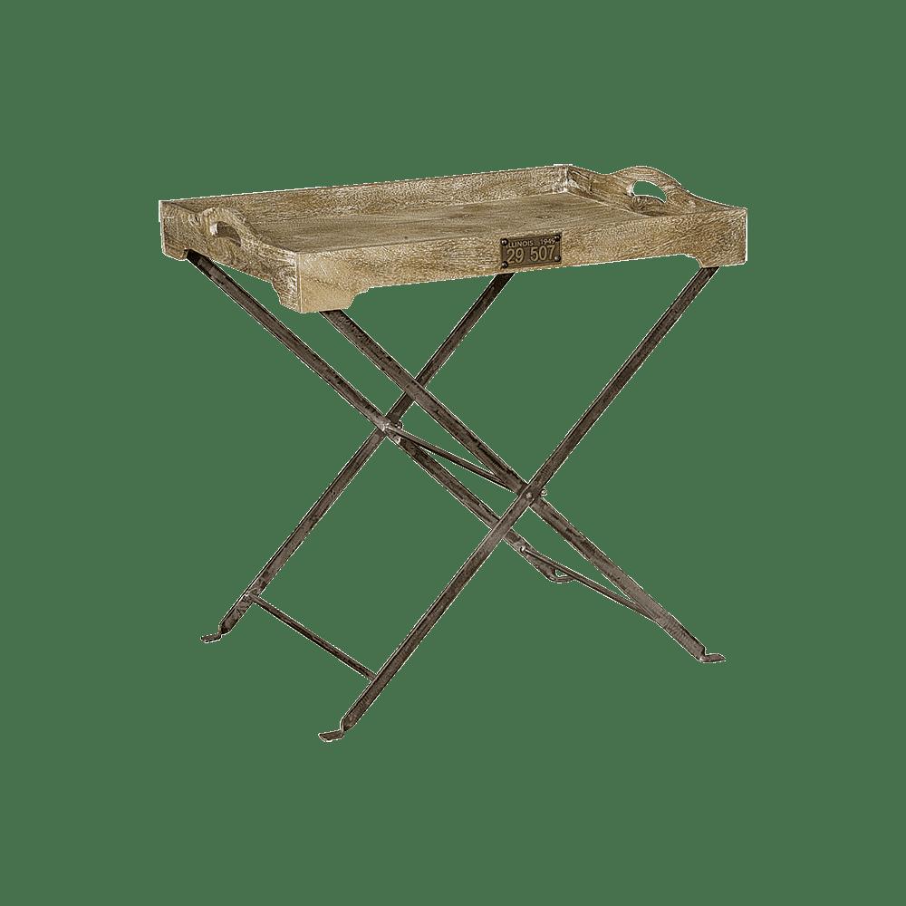 Tafel - Bijzettafels - Tray with stand - 77x57x78