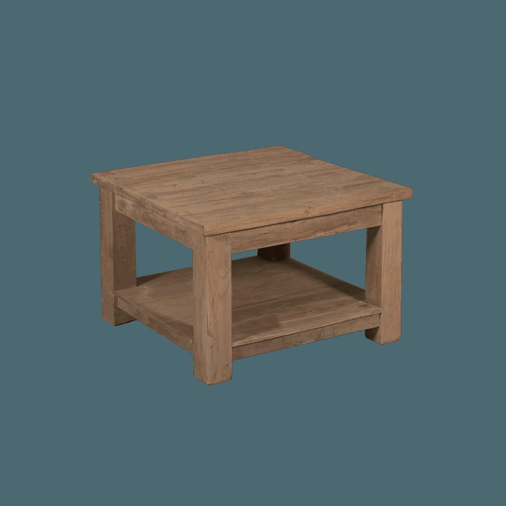 Tafel - Bijzettafels - Genua endtable 60x60 with shelf