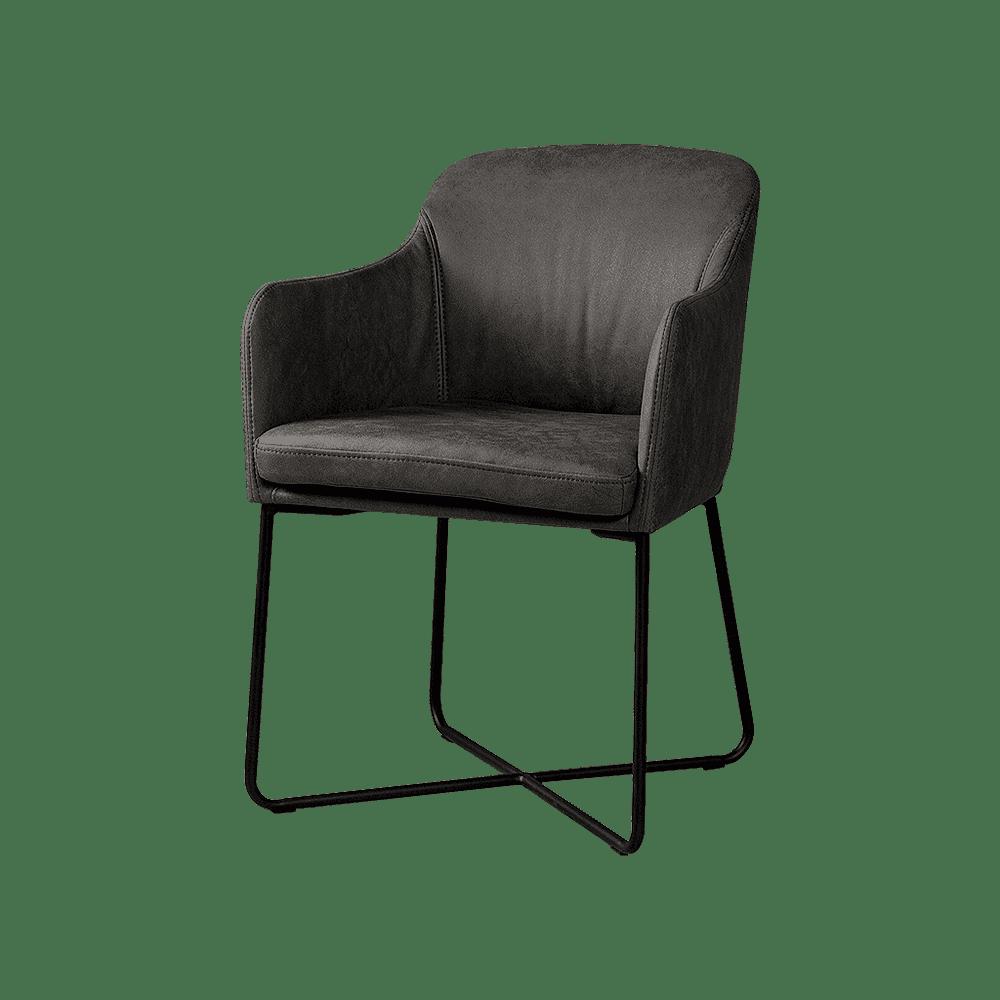 Stoel - Eetkamerstoelen - Albufera armchair - fabric dark grey-08