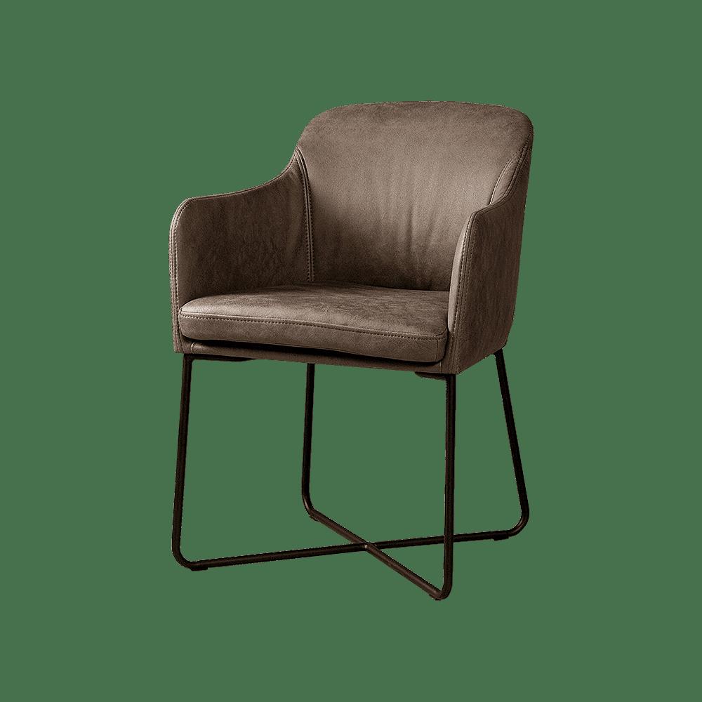 Stoel - Eetkamerstoelen - Albufera armchair - fabric middle grey-06
