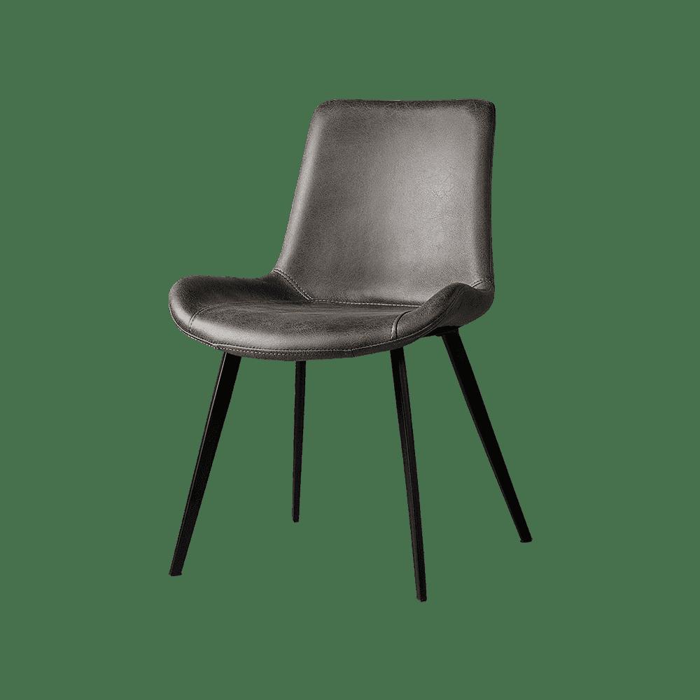 Stoel - Eetkamerstoelen - Almeria sidechair - savannah anthracite