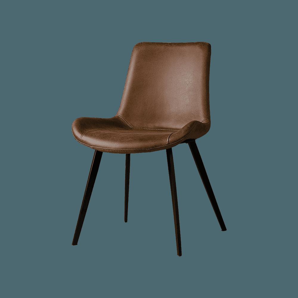 Stoel - Eetkamerstoelen - Almeria sidechair - savannah dark brown 1078-03