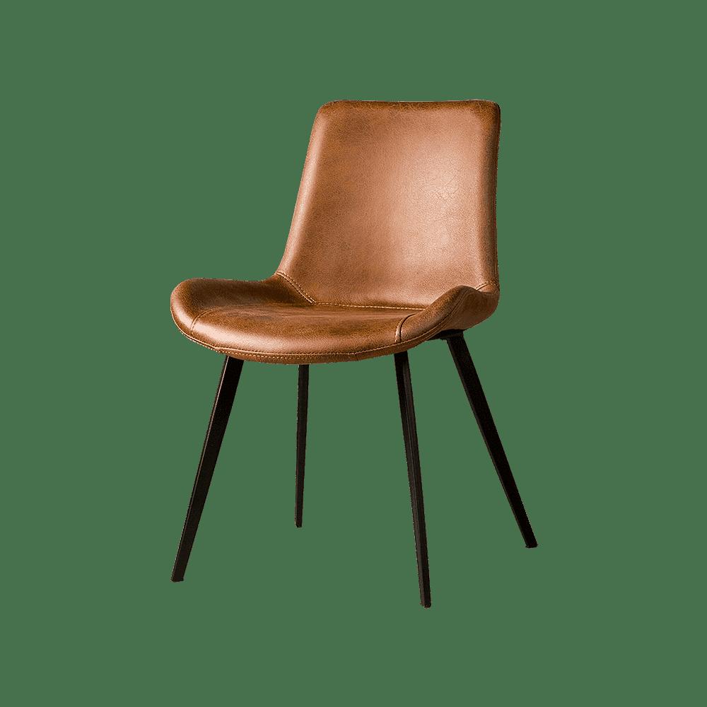 Stoel - Eetkamerstoelen - Almeria sidechair - savannah light brown 1049