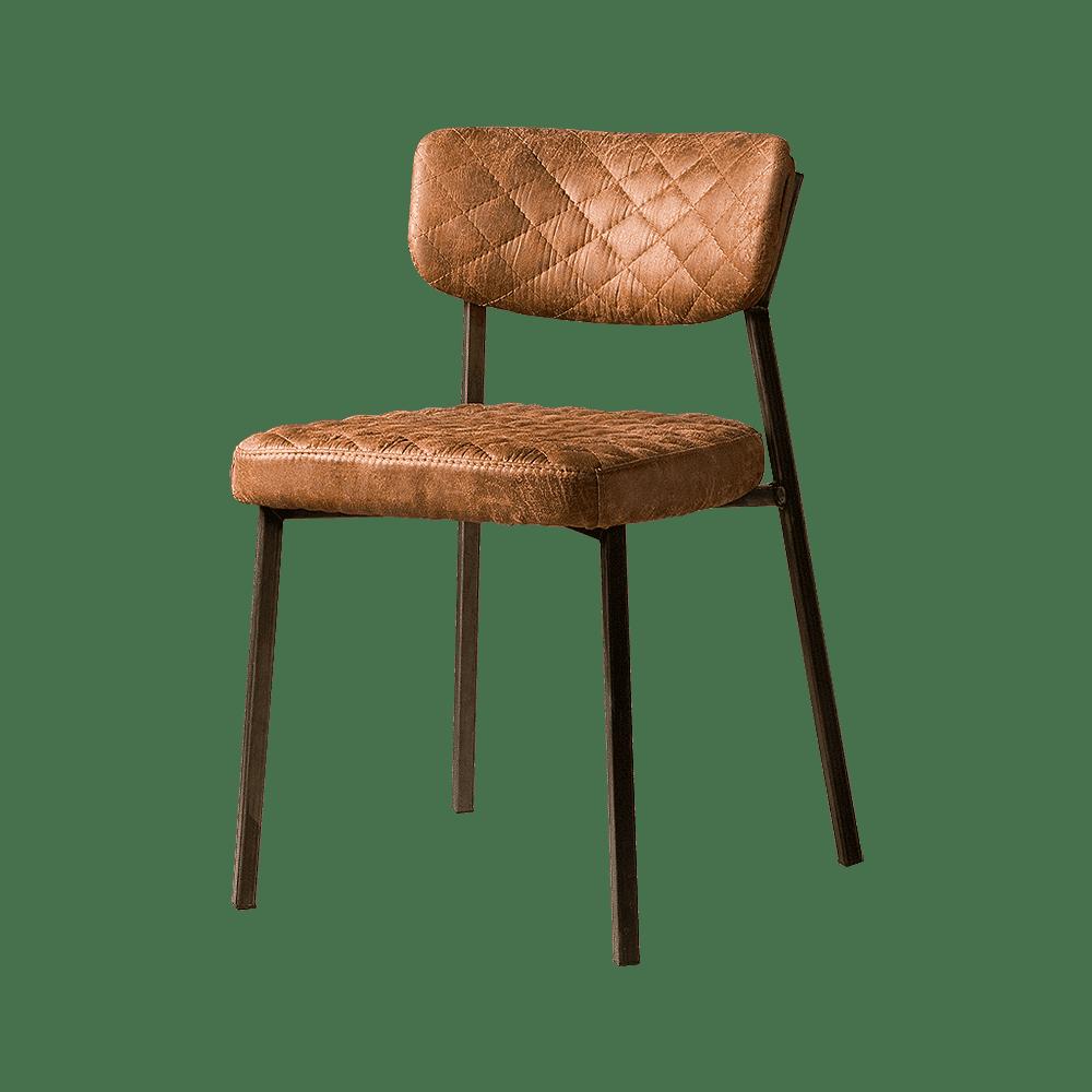 Stoel - Eetkamerstoelen - Altea sidechair - fabric t-cognac
