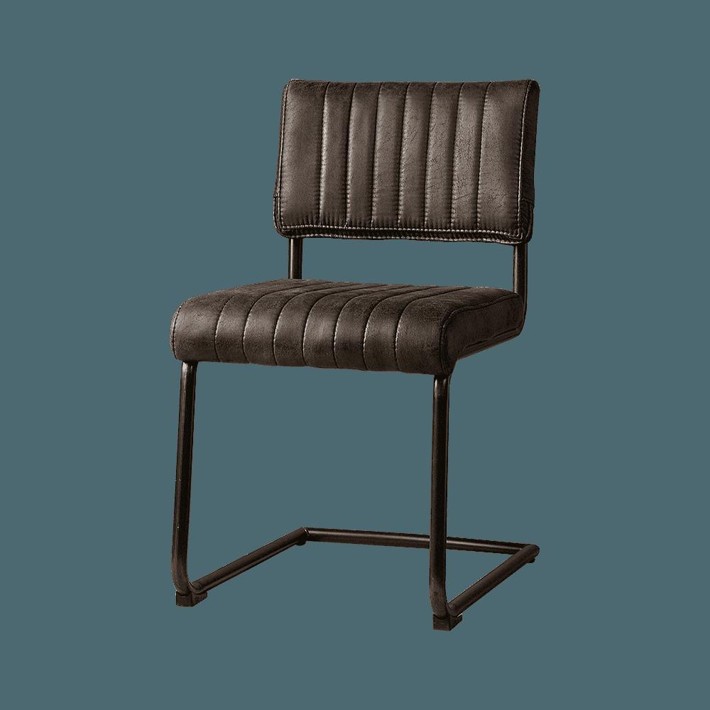 Stoel - Eetkamerstoelen - Avila sidechair - fabric t-anthracite