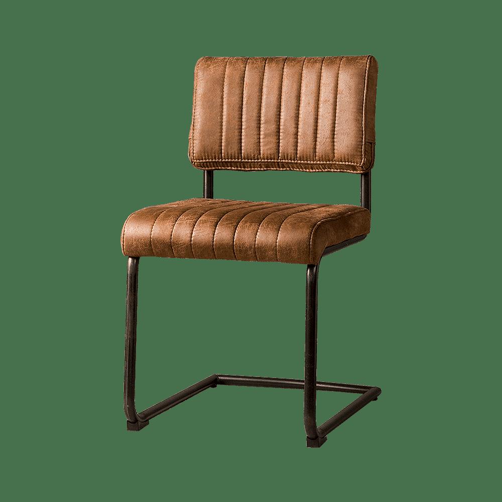 Stoel - Eetkamerstoelen - Avila sidechair - fabric t-cognac