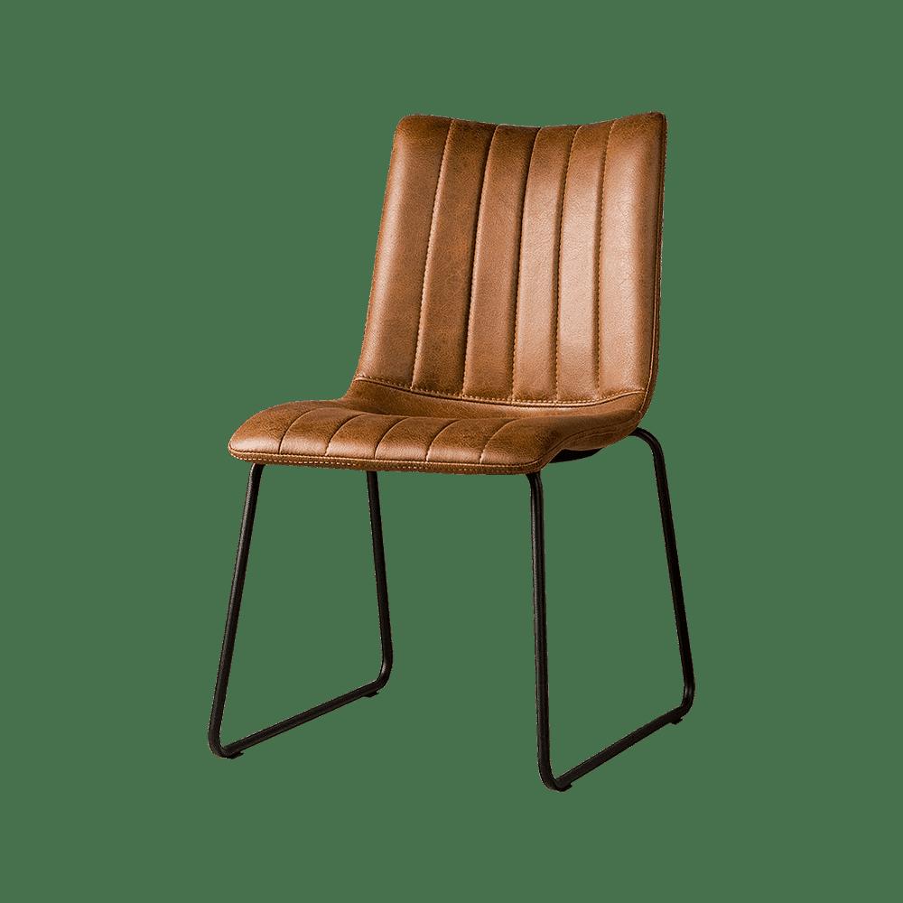 Stoel - Eetkamerstoelen - Bunol sidechair - savannah light brown 1049