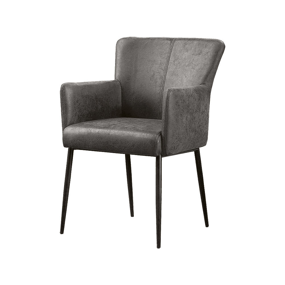 Stoel - Eetkamerstoelen - Ibiza armchair - savannah anthracite