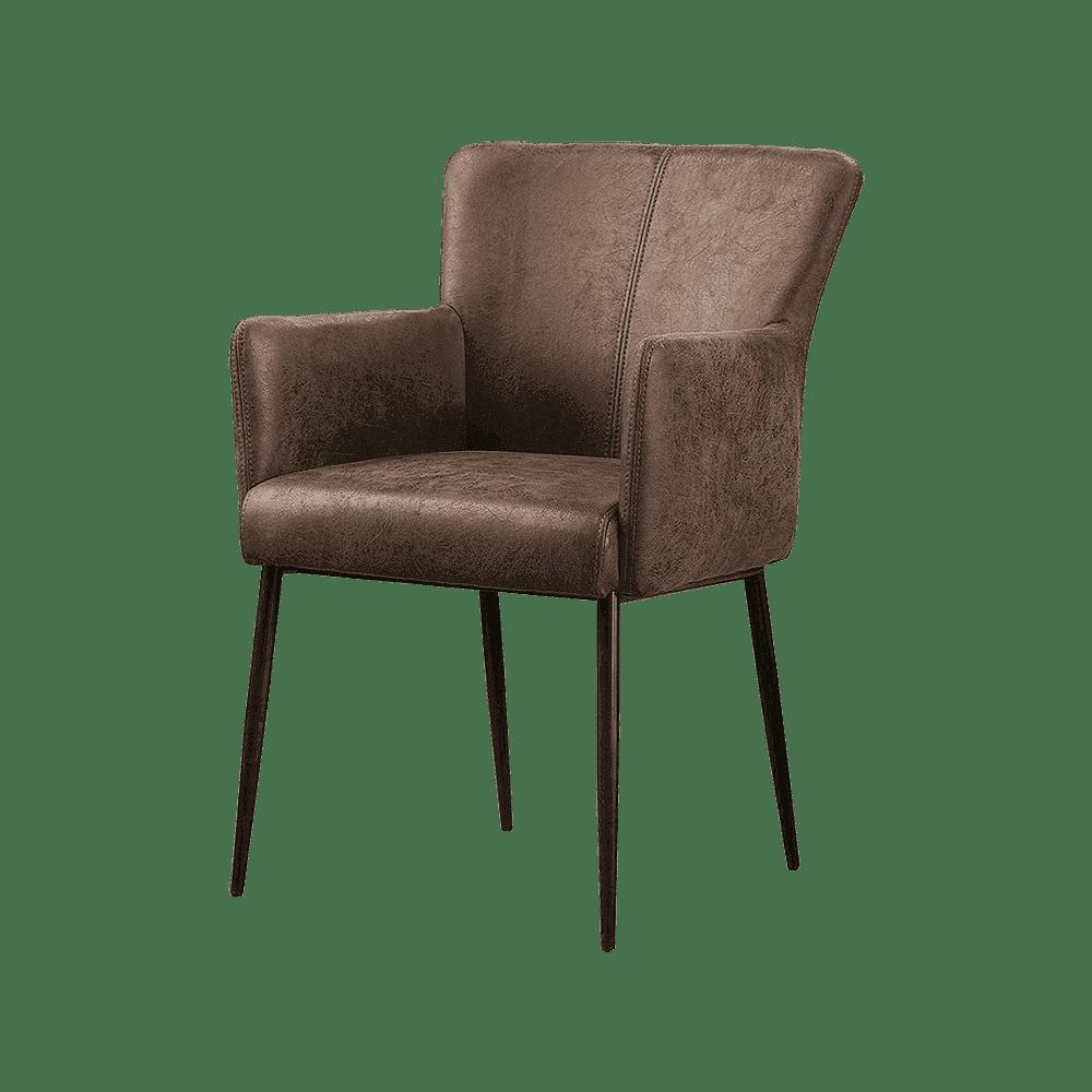 Stoel - Eetkamerstoelen - Ibiza armchair - savannah dark brown 1078-03