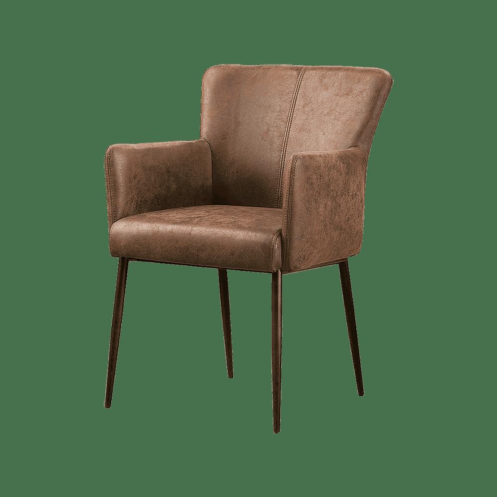 Stoel - Eetkamerstoelen - Ibiza armchair - savannah light brown 1049