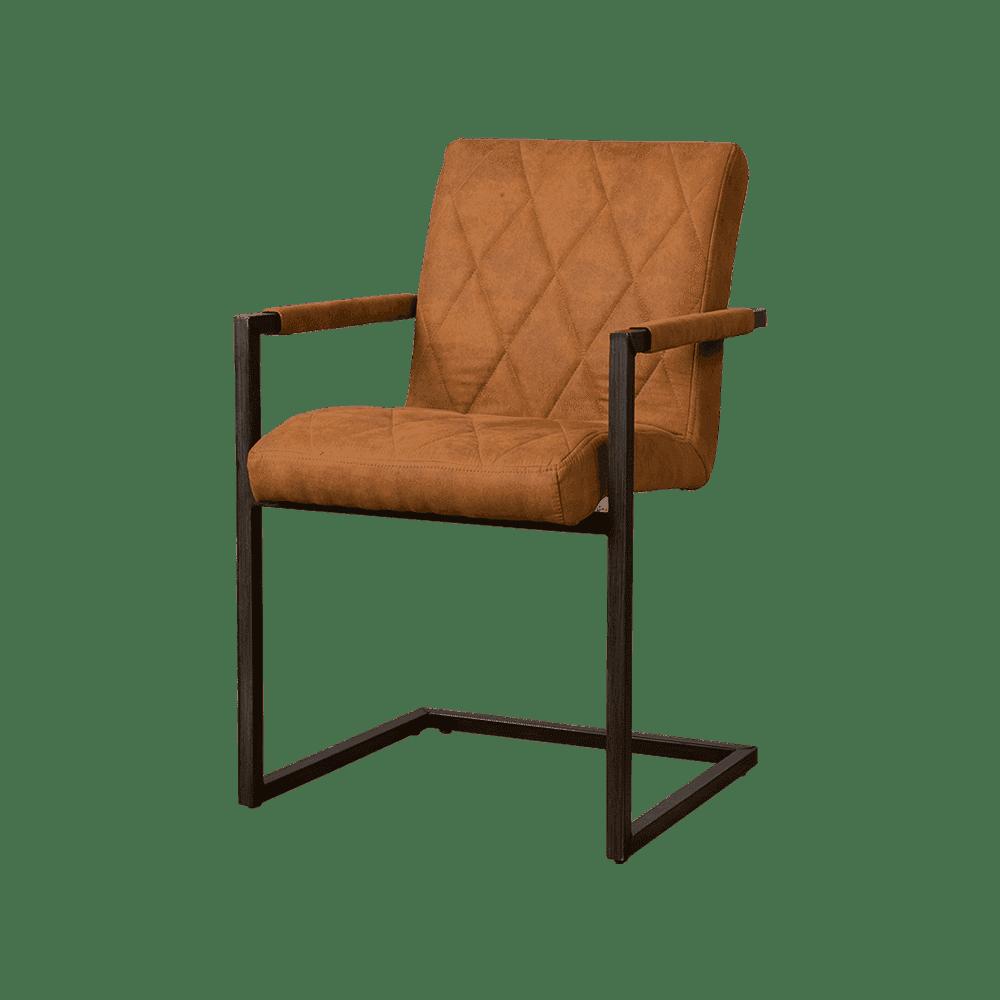 Stoel - Eetkamerstoelen - Lomba armchair - fabric houston 215 cognac