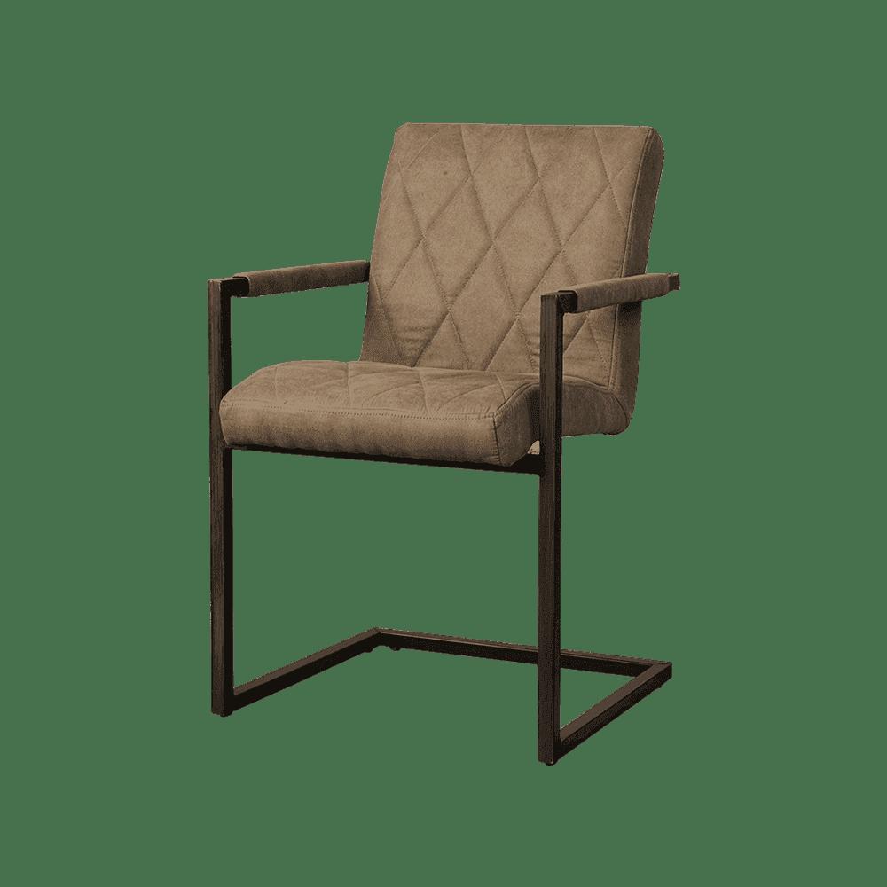 Stoel - Eetkamerstoelen - Lomba armchair - fabric houston 809 taupe
