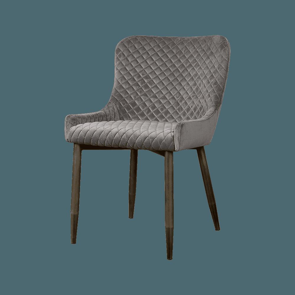 Stoel - Eetkamerstoelen - Oledo sidechair - fabric bluvel 14 grey