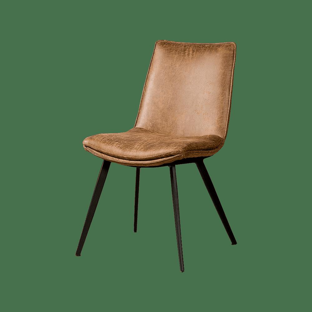 Stoel - Eetkamerstoelen - Pamplona sidechair - fabric t-cognac