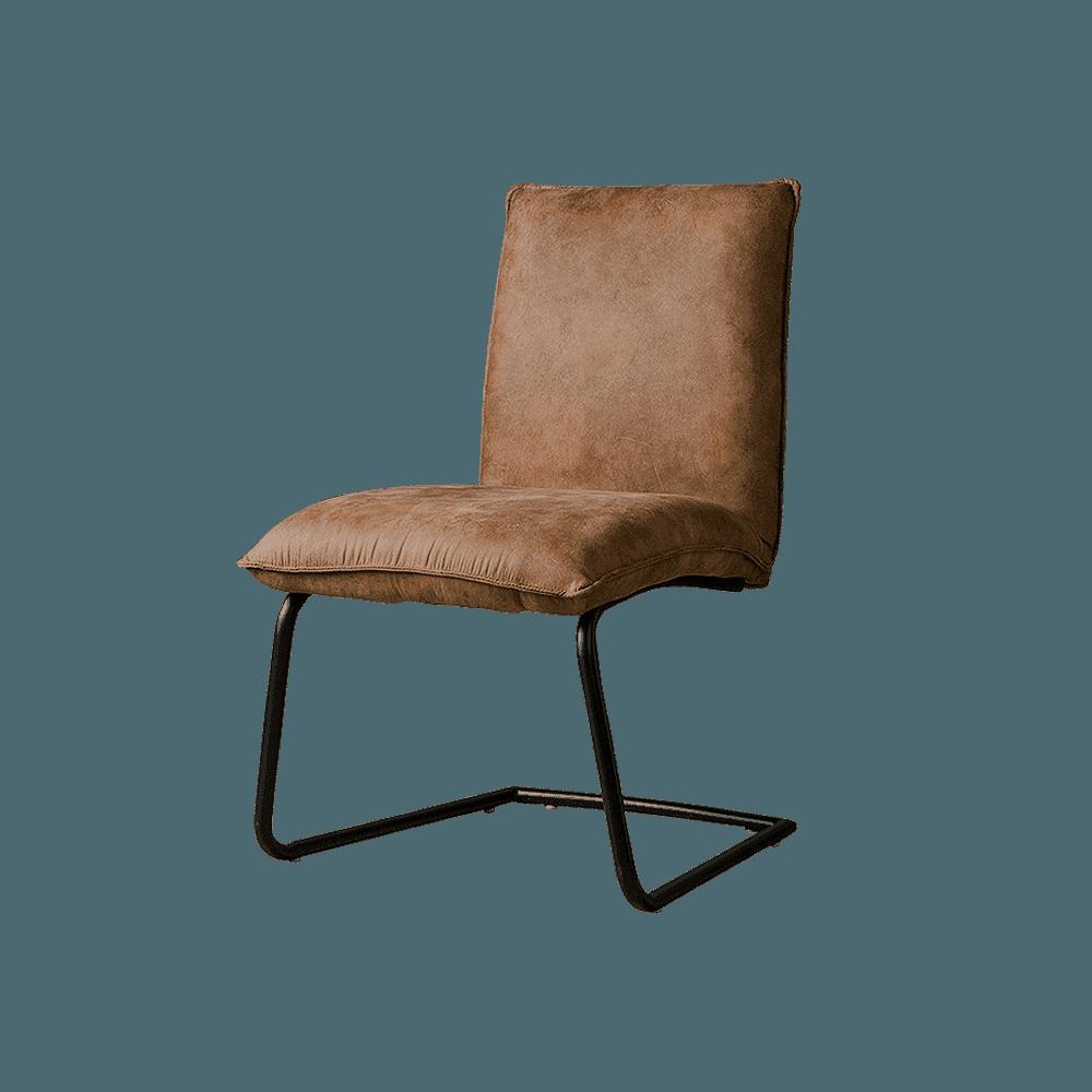 Stoel - Eetkamerstoelen - Pinto sidechair - fabric ybf-95 dark brown