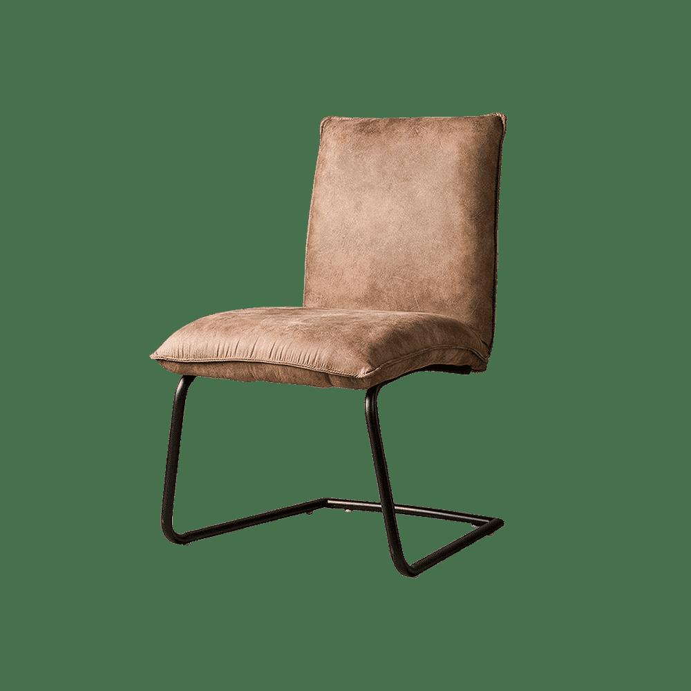 Stoel - Eetkamerstoelen - Pinto sidechair - fabric ybf-96 light brown