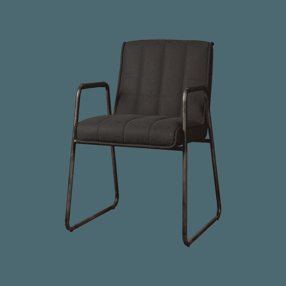 Stoel - Eetkamerstoelen - Santo armchair - fabric miami 001 anthracite