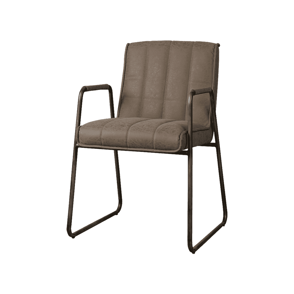 Stoel - Eetkamerstoelen - Santo armchair - fabric miami 002 grey