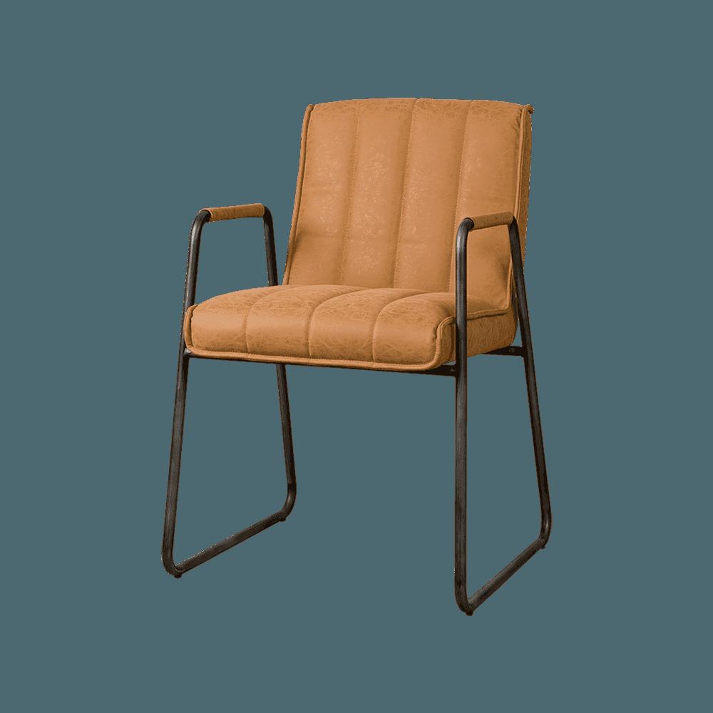 Stoel - Eetkamerstoelen - Santo armchair - fabric miami 004 cognac