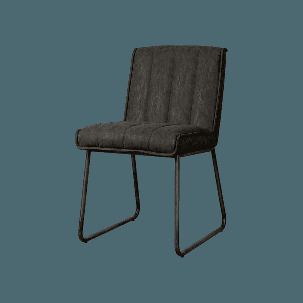 Stoel - Eetkamerstoelen - Santo sidechair - fabric miami 001 anthracite