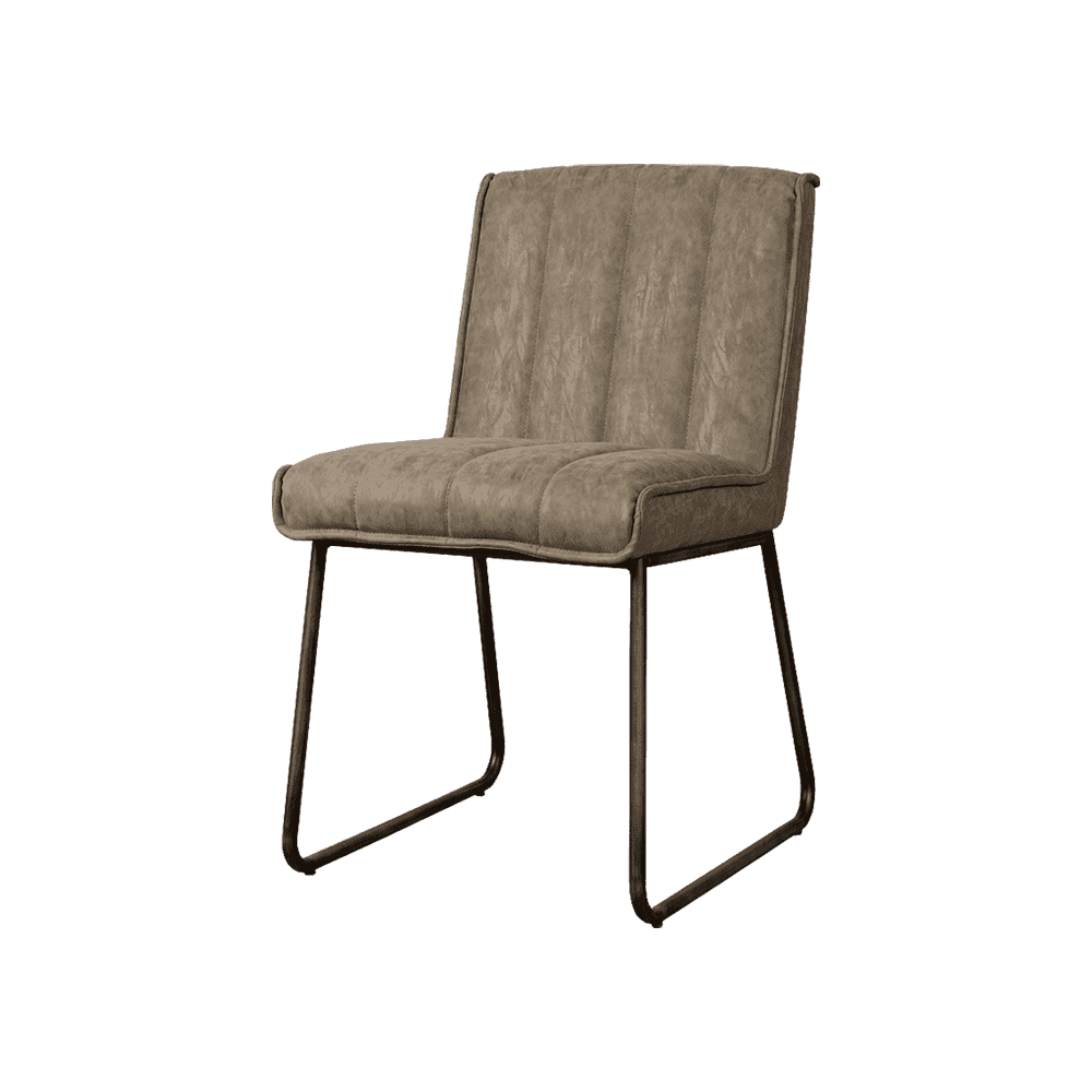 Stoel - Eetkamerstoelen - Santo sidechair - fabric miami 002 grey