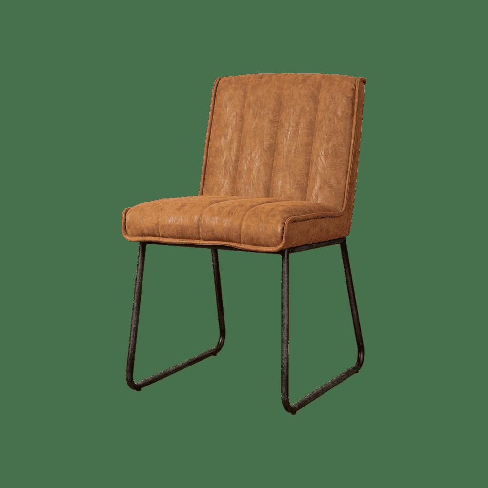 Stoel - Eetkamerstoelen - Santo sidechair - fabric miami 004 cognac