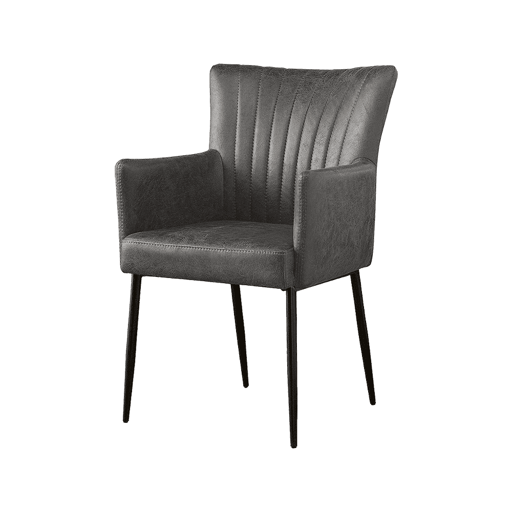 Stoel - Eetkamerstoelen - Toledo armchair - savannah anthracite