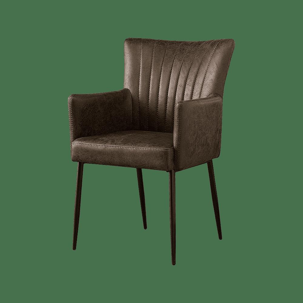 Stoel - Eetkamerstoelen - Toledo armchair - savannah dark brown 1078-03