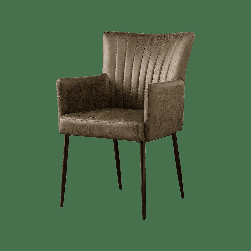 Stoel - Eetkamerstoelen - Toledo armchair - savannah light brown 1049