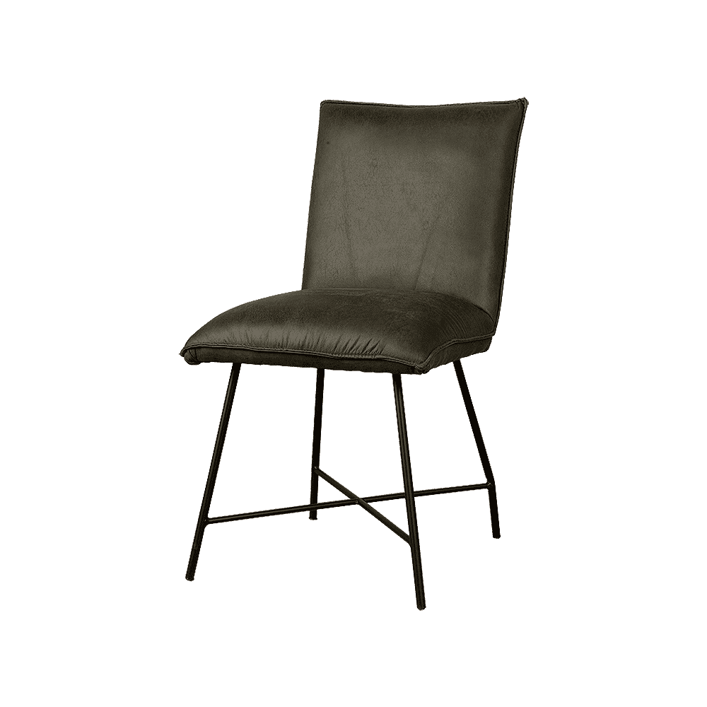 Stoel - Eetkamerstoelen - Trofa sidechair - fabric amazon 17 green