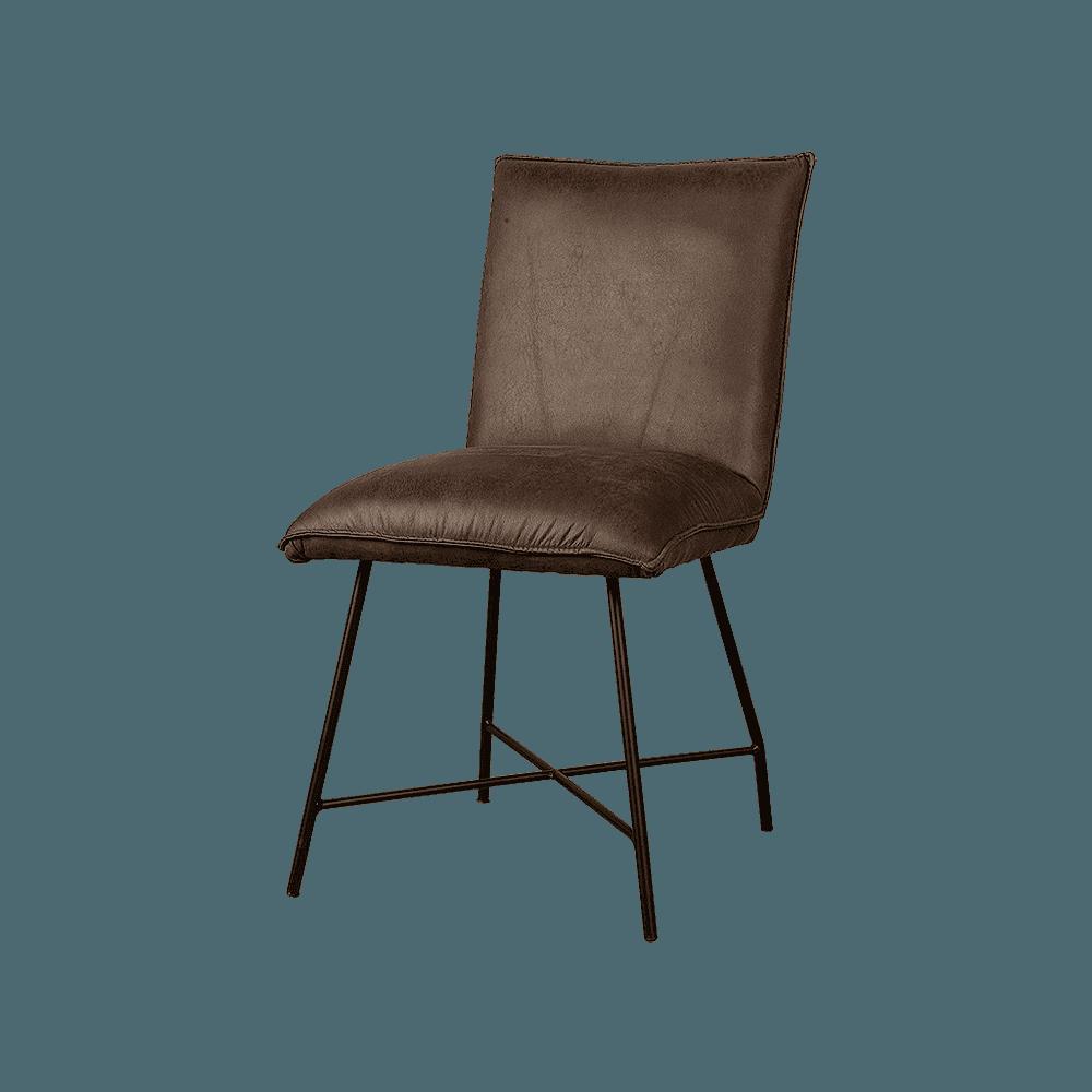 Stoel - Eetkamerstoelen - Trofa sidechair - fabric amazon 8 brown