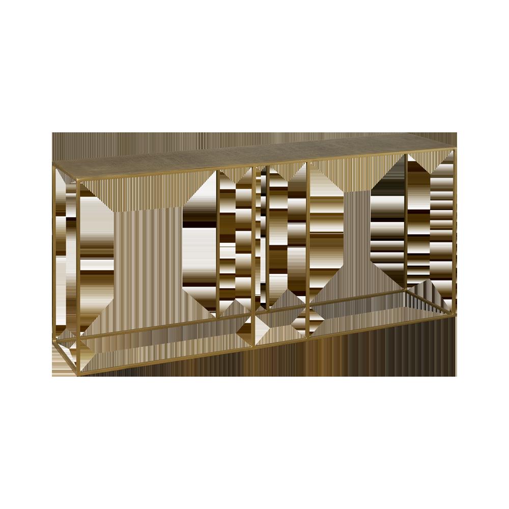 Tafel - Bijzettafels - Etching sofatable 150x35x70