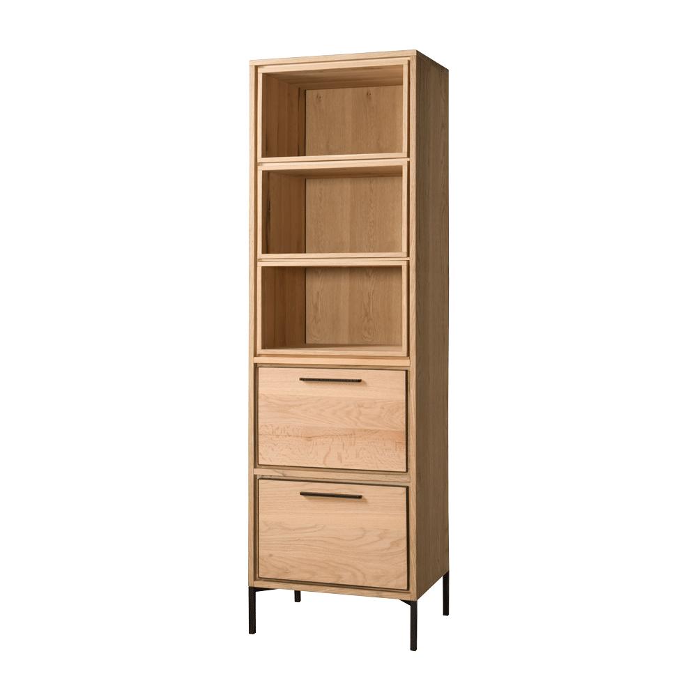Kast - Vakkenkasten - Ravenna - bookcase 2 drws. 3 niches - 60