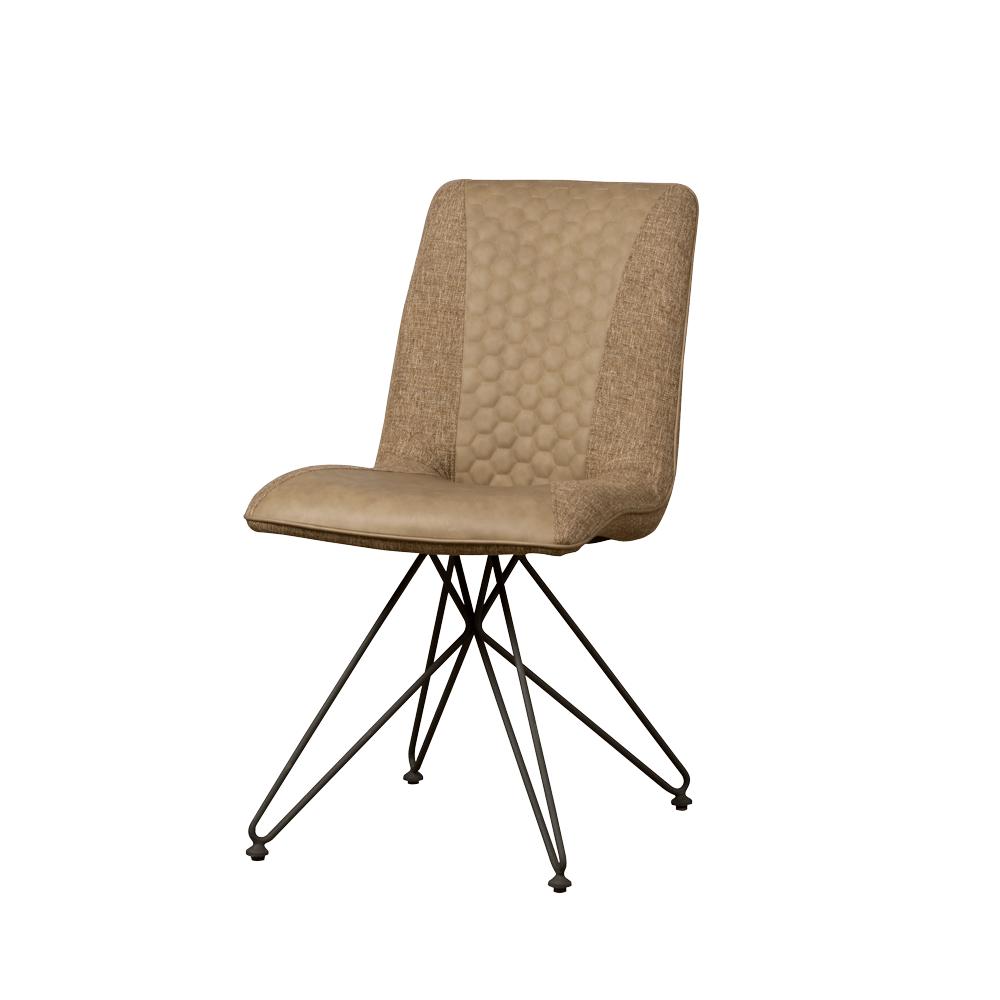 Stoel - Eetkamerstoelen - Capri sidechair - vintage brown + linen brown