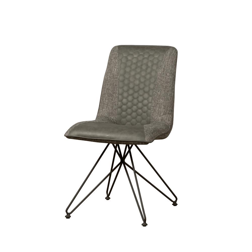 Stoel - Eetkamerstoelen - Capri sidechair - vintage grey + linen grey