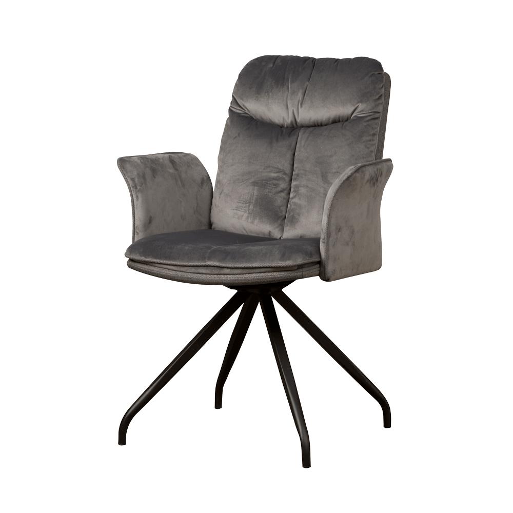 Stoel - Eetkamerstoelen - Rota swivel armchair - lush 812-229 grey