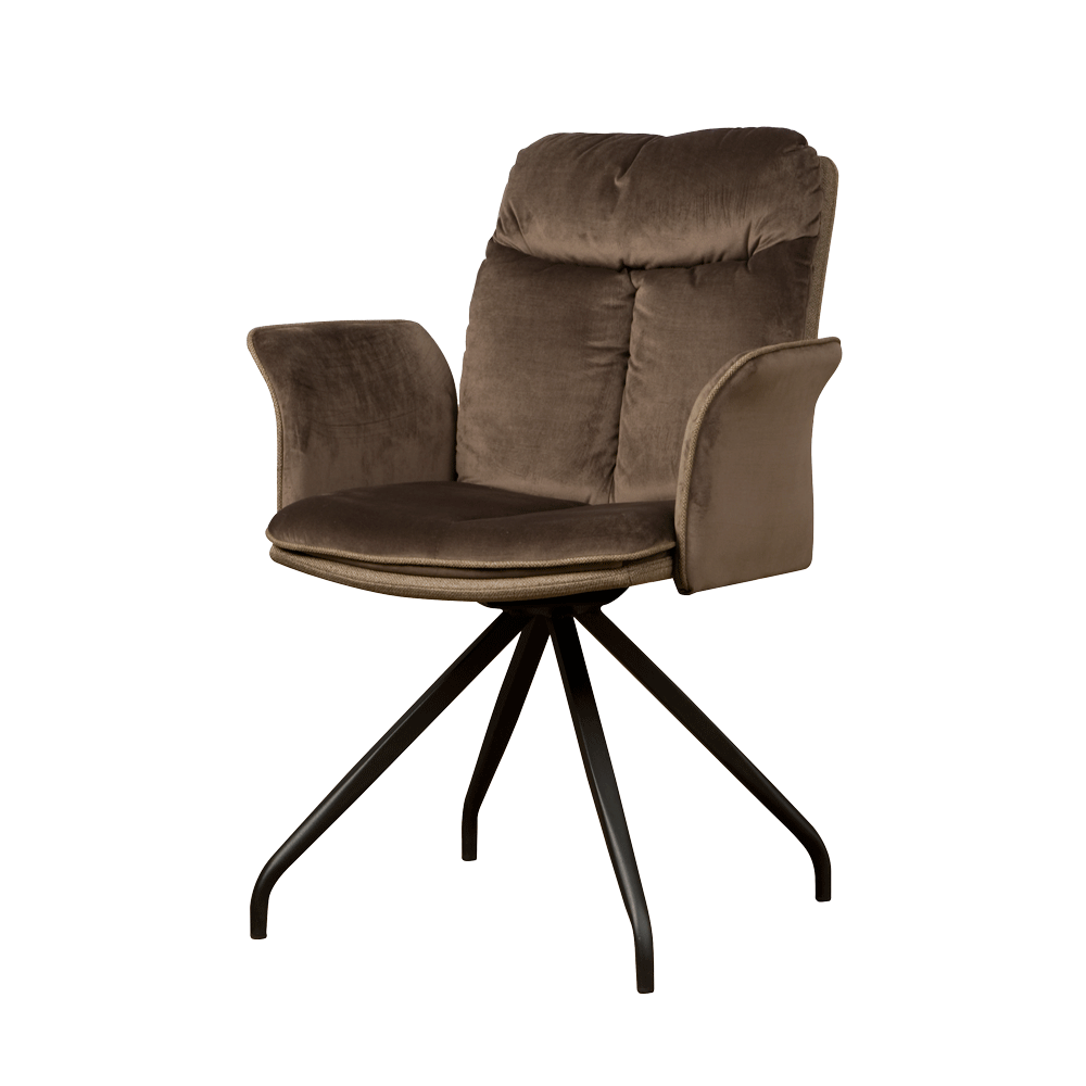 Stoel - Eetkamerstoelen - Rota swivel armchair - lush 822-227 brown