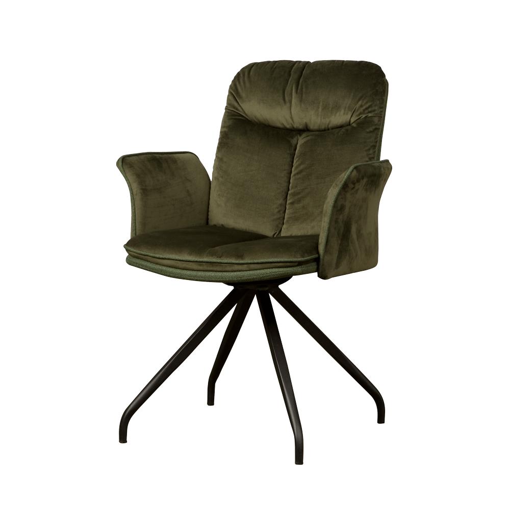 Stoel - Eetkamerstoelen - Rota swivel armchair - lush 867-232 green