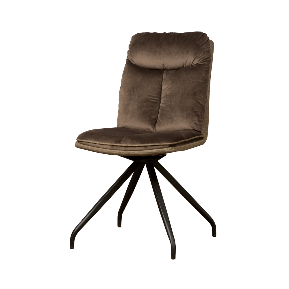 Stoel - Eetkamerstoelen - Rota swivel sidechair - lush 822-227 brown