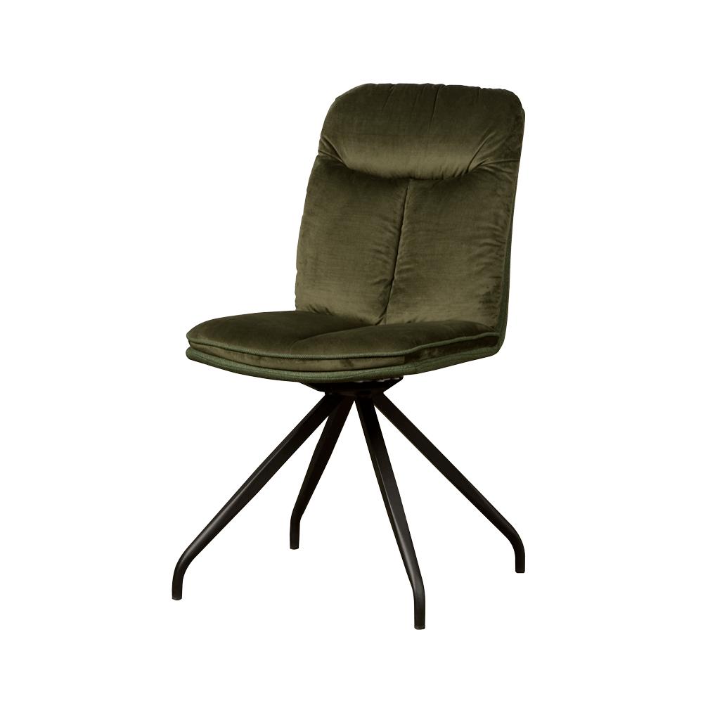 Stoel - Eetkamerstoelen - Rota swivel sidechair - lush 867-232 green