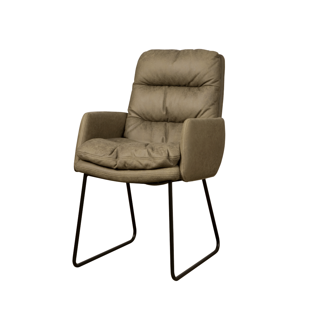 Stoel - Eetkamerstoelen - Toro armchair - cabo 385 green