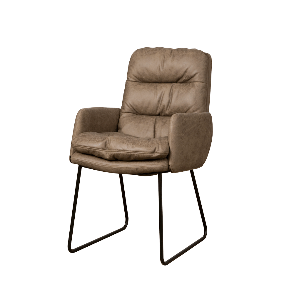Stoel - Eetkamerstoelen - Toro armchair - cabo 387 taupe