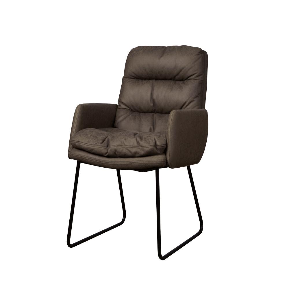Stoel - Eetkamerstoelen - Toro armchair - cabo 390 anthracite