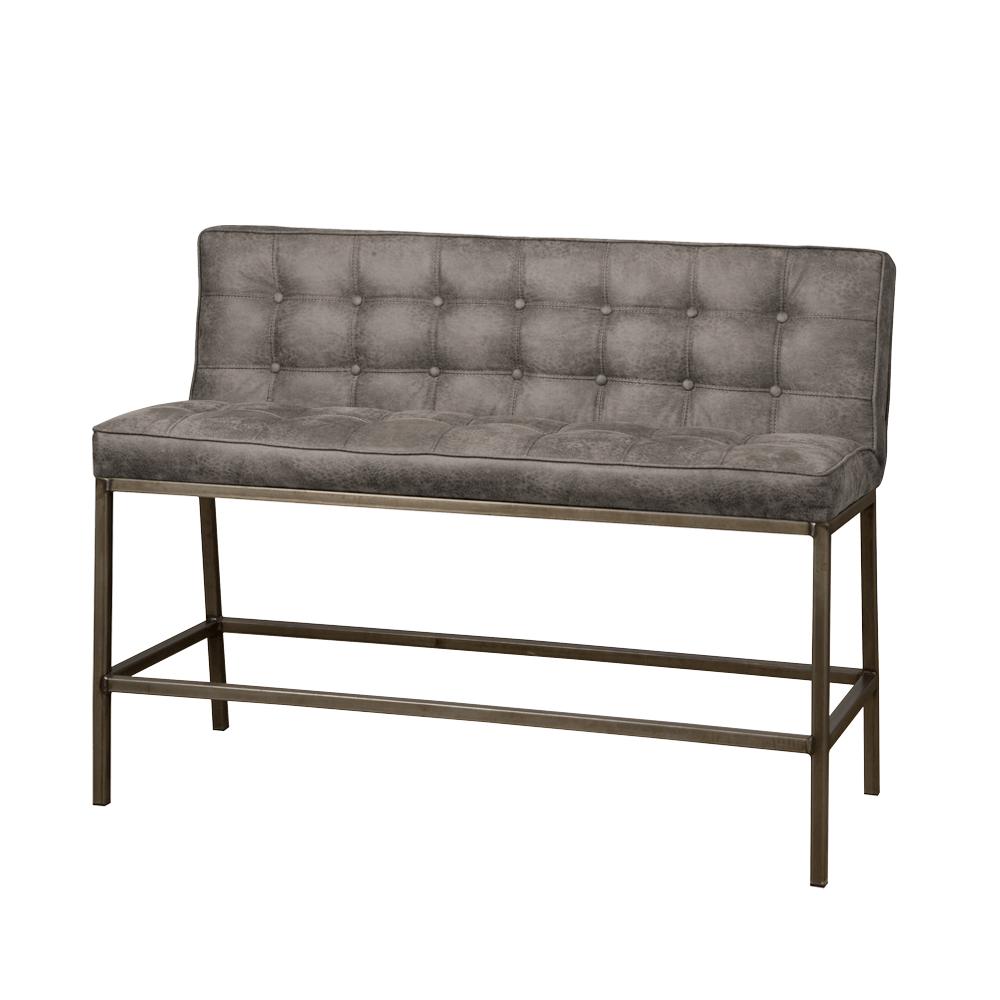 Bank - Hockers - Vasco barbench 130 - fabric amazon 2 grey