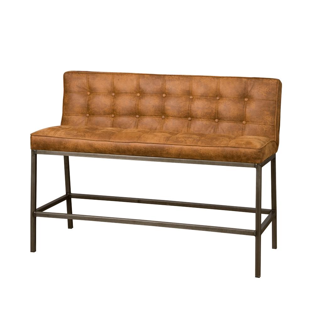 Bank - Hockers - Vasco barbench 130 - fabric amazon 9 cognac