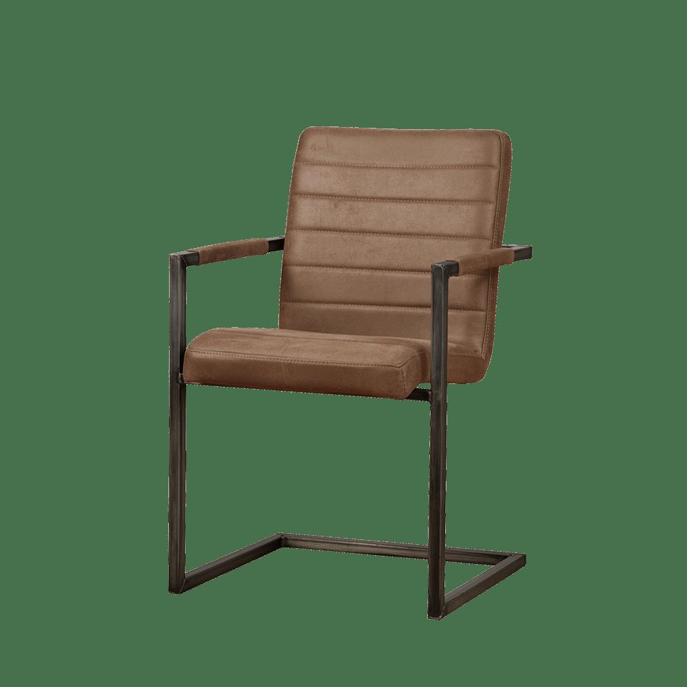 Stoel - Eetkamerstoelen - Rocca armchair - bull brown